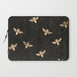 Busy Bees (Black) Laptop Sleeve