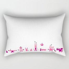 Robots-Pink Rectangular Pillow