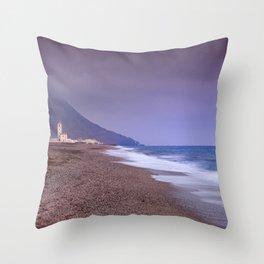 Salinas Beach At Sunset. Throw Pillow