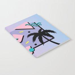 Memphis Pattern 25 - Miami Vice / 80s Retro / Palm Tree Notebook