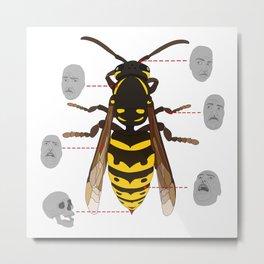 Anatomy of the Bee Metal Print