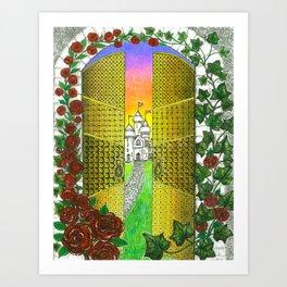 Golden Gateway  Art Print