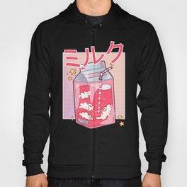 Funny Retro 90s Soft Grunge Japanese Kawaii Strawberry Milk Hoody