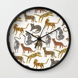 Tiger Collection – Neutral Palette Wall Clock