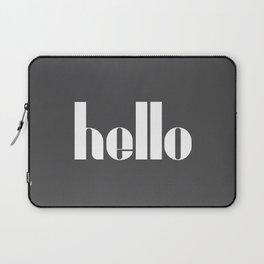 Hello (Charcoal Black) Laptop Sleeve