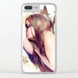 Sleeping Fairy Clear iPhone Case