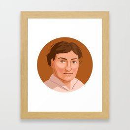 Queer Portrait - Willa Cather Framed Art Print