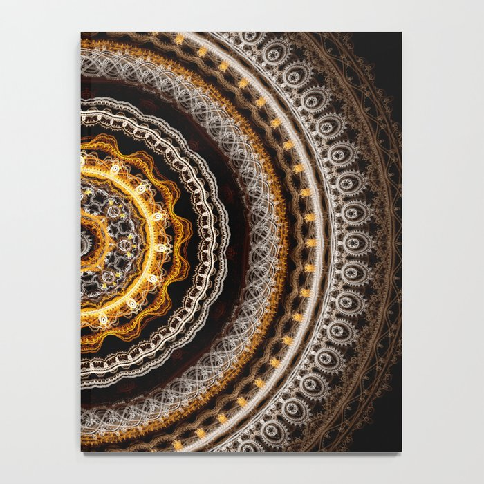 Mandala with tribal patterns Notebook