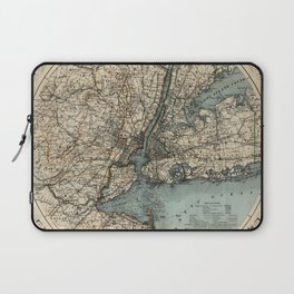 Map of Upstate New York 1891 Laptop Sleeve