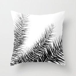 BW Palms Throw Pillow