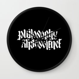 Philosophy, Art & Science Wall Clock