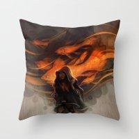 loish Throw Pillows featuring Seastorm by loish