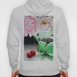 Cherry Blossoms in Green Glass Hoody