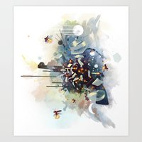 big bang Art Prints featuring Big Bang by Travis Clarke