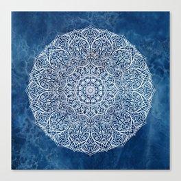 White mandala Canvas Print