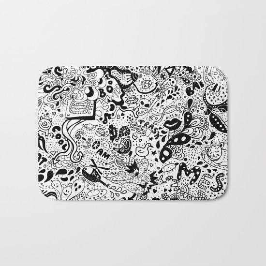 cute graphite Bath Mat