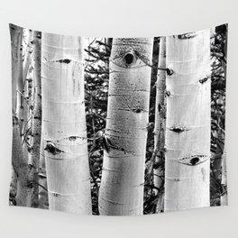 Three Aspens Black & White Wall Tapestry