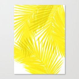 Palms Yellow Canvas Print