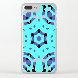 CVPA20099 Benny Guttorm Blue, Black and Pink Snowflake Clear iPhone Case