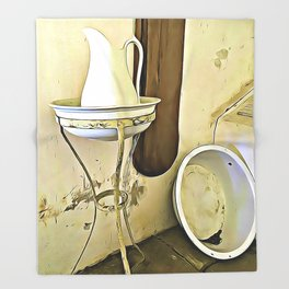 Once Upon a Time - Wash Jug and Stand Throw Blanket