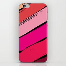 diagonal stripes iPhone Skin