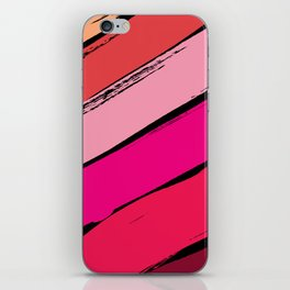 diagonal stripes iPhone Skin