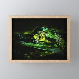 alligator baby eye va Framed Mini Art Print