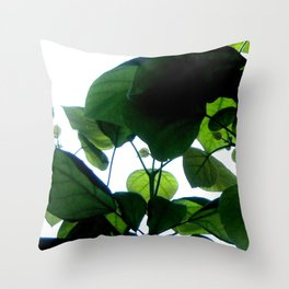 Greenery Abstract Throw Pillow