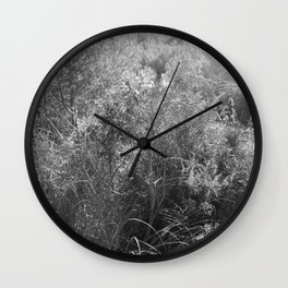 Black and white country forest Wall Clock