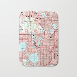Orlando Florida Map (1995) Bath Mat