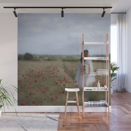Dreaming in the field Wall Mural