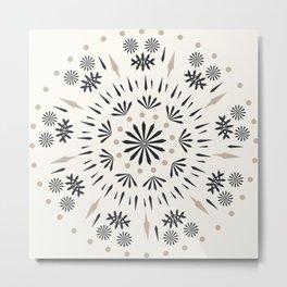 Snowflakes Scandic Nordic Metal Print