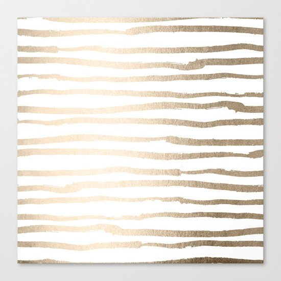 White Gold Sands Painted Lines Canvas Print