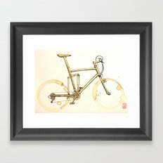 Coffee Wheels #02 Framed Art Print