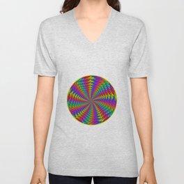 Psychedelic Rainbow Spiral Unisex V-Neck