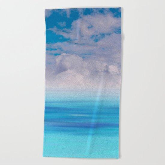 The Sea is Calm Beach Towel