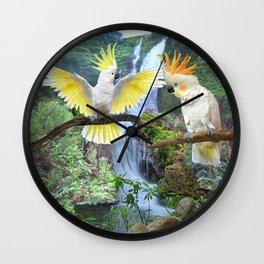 COCKATOO COURTSHIP  Wall Clock