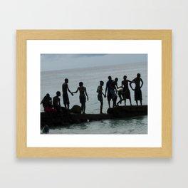 Barbados Life.   Framed Art Print