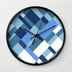 Map 45 Blues Wall Clock