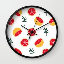 Summer grapefruit Wall Clock