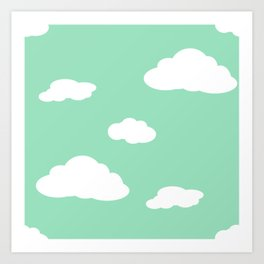 Paper Airplanes - You Can Fly - Cloud Variation - Julep Art Print