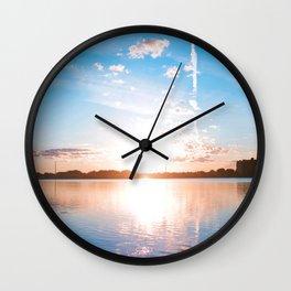 Aurora Blue Wall Clock