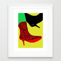 shoes Framed Art Prints featuring Shoes by BUBUBABA