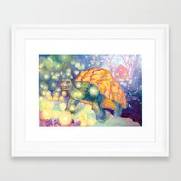 tortoise Framed Art Prints featuring Tortoise by Gregery Miller