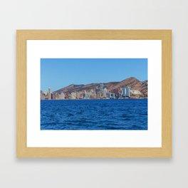 Benidorm city and sea Framed Art Print