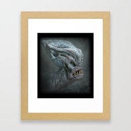 Bulbous Alien Framed Art Print