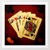 Poker de Jotas (Dirty Poker) Art Print