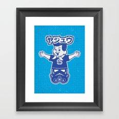 Totem: Mascot & Street Trooper (Navy Cyan) Framed Art Print