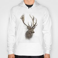 stag Hoodies featuring stag by emegi