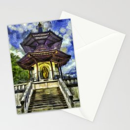The Pagoda Vincent Van Gogh Stationery Cards
